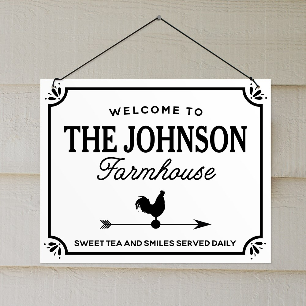 Personalized Welcome To The Farmhouse Wall Sign | Personalized Wall Signs