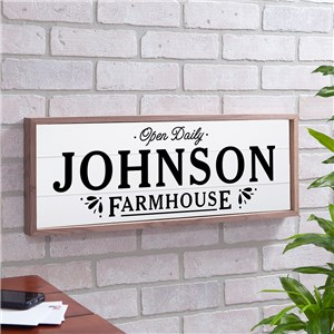 Personalized Farmhouse Wood Framed Wall Sign | Personalized Wood Pallet Signs