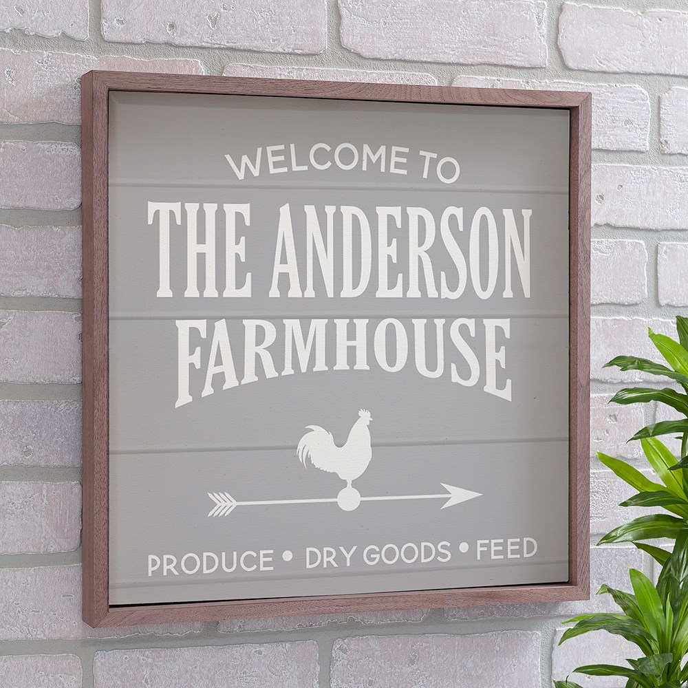 Welcome To The Farmhouse Personalized Wall Sign | Wood Pallet Signs