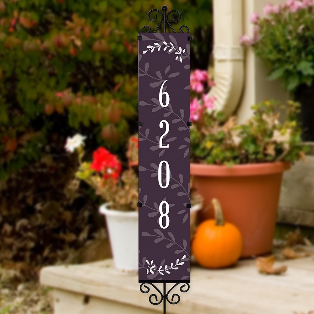 Personalized Blessed Beyond Belief Address Yard Stake | Personalized Address Signs