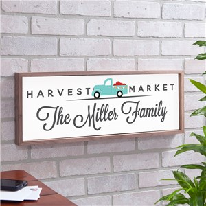 Personalized Happy Harvest Framed Wall Decor | Wood Pallet Signs