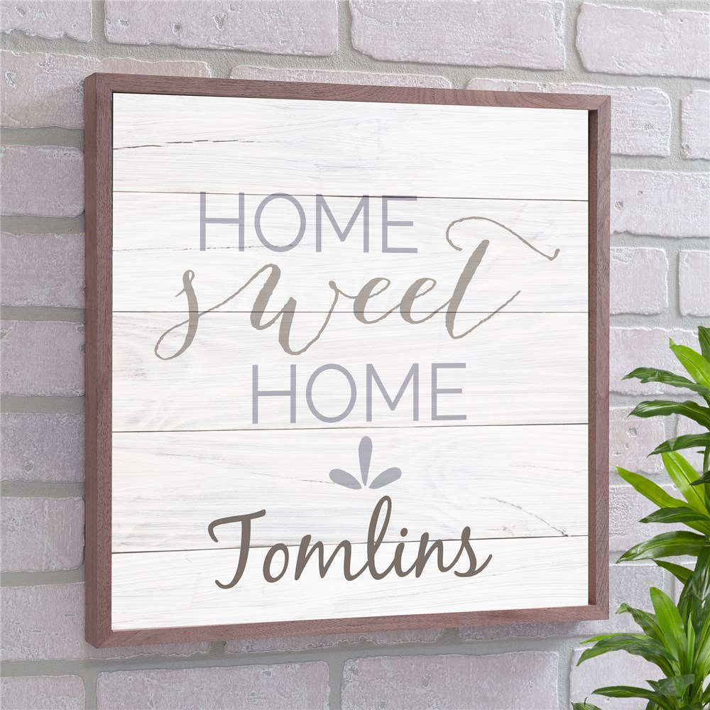 Home Sweet Home Personalized Wall Decor | Personalized Wood Pallet Signs