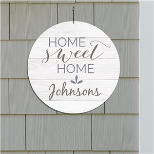 Home Sweet Home Personalized Wall Sign | Family Name Signs