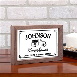 Personalized Vintage Truck Farmhouse Table Top Sign | Personalized Farmhouse Decor