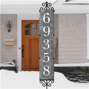 Personalized Let it Snow Address Yard Stake | House Number Sign