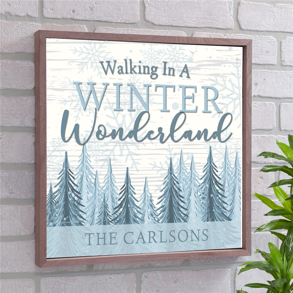 Walking In A Winter Wonderland Personalized Wall Sign | Personalized Wall Decor