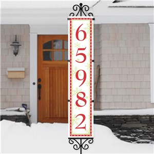 Personalized Red Polka Dot Border Address Sign | Address Signs For Yard