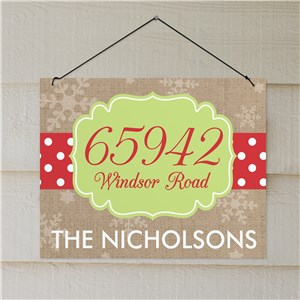 Personalized Polka Dot Address Wall Sign | Address Signs