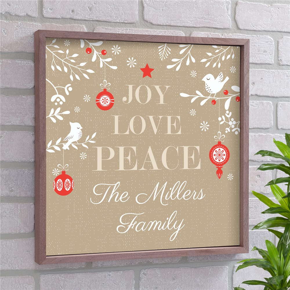 Joy Love Peace Personalized Wall Decor | Christmas Wall Decor