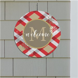 Dashing Through The Snow Round Personalized Welcome Sign | Personalized Signs For Home
