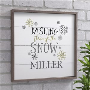 Dashing Through The Snow Personalized Wall Decor | Christmas Wall Decor