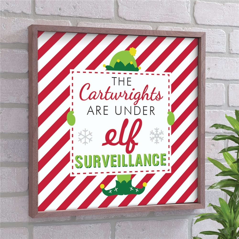 Elf Surveillance Personalized Wall Decor | Christmas Wall Decor