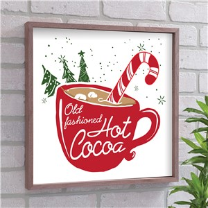 Old Fashioned Hot Cocoa Wall Decor | Christmas Wall Decor
