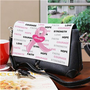Hope and Love Breast Cancer Awareness Shoulder Bag 6136632