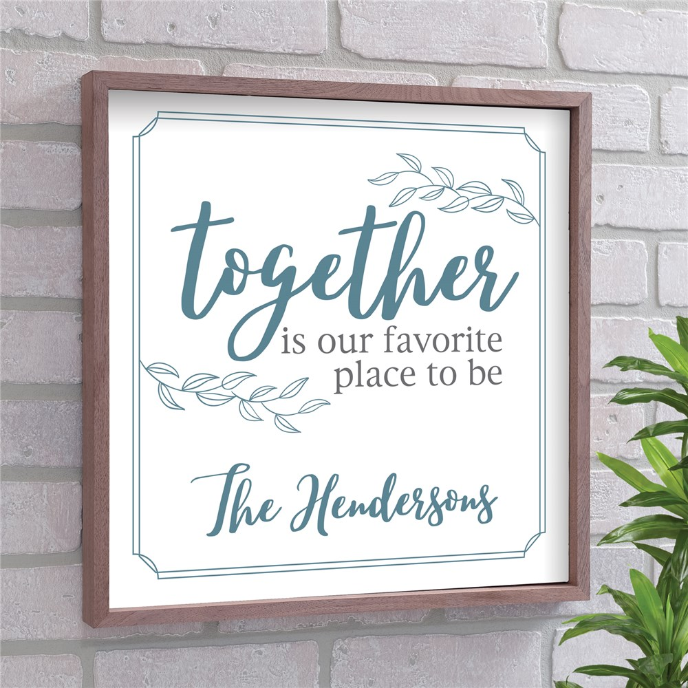 Personalized Together Wall Decor | Favorite Place Wood Pallet Decor