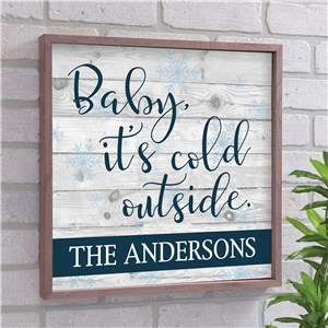 Baby It's Cold Outside Wall Decor | It's Cold Outside Wood Pallet Decor