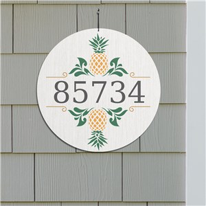 Round Hospitality Wall Sign | Personalized Address Signs