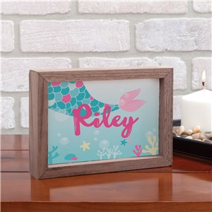 Personalized Mermaid Art | Mermaid Kids Room Decorations