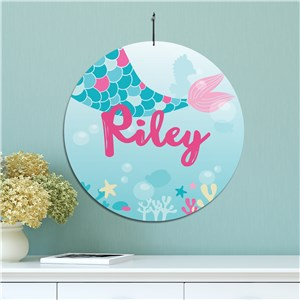 Kids Room Mermaid Art | Personalized Mermaid Sign