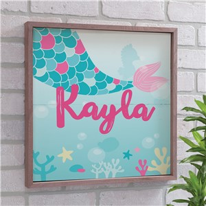 Mermaid Kids Art | Personalized Mermaid Decor