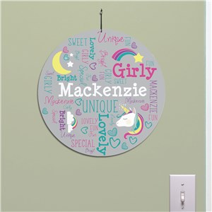 Unicorn Kids Room Art | Personalized Name Art