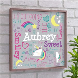 Unicorn Kids Room Art | Kids Personalized Wall Art