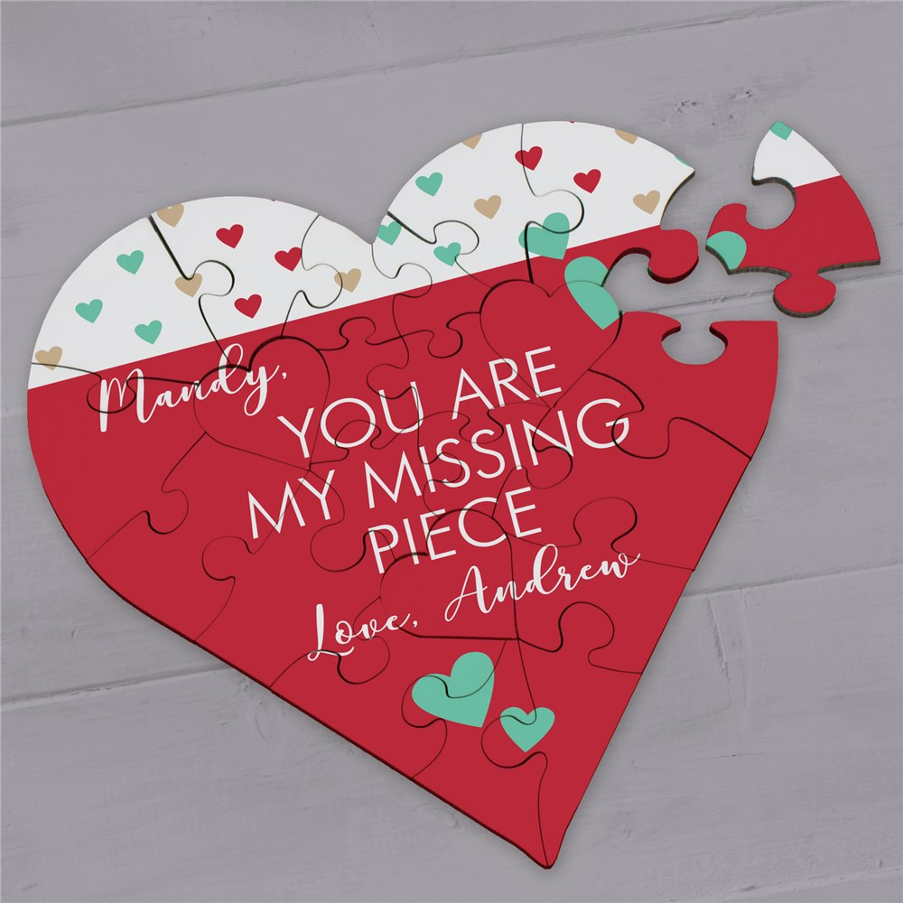 Personalized Valentine's Gifts | Customized Heart Puzzles