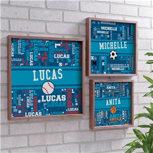 Framed Wall Decor | Kids Room Sports Decorations