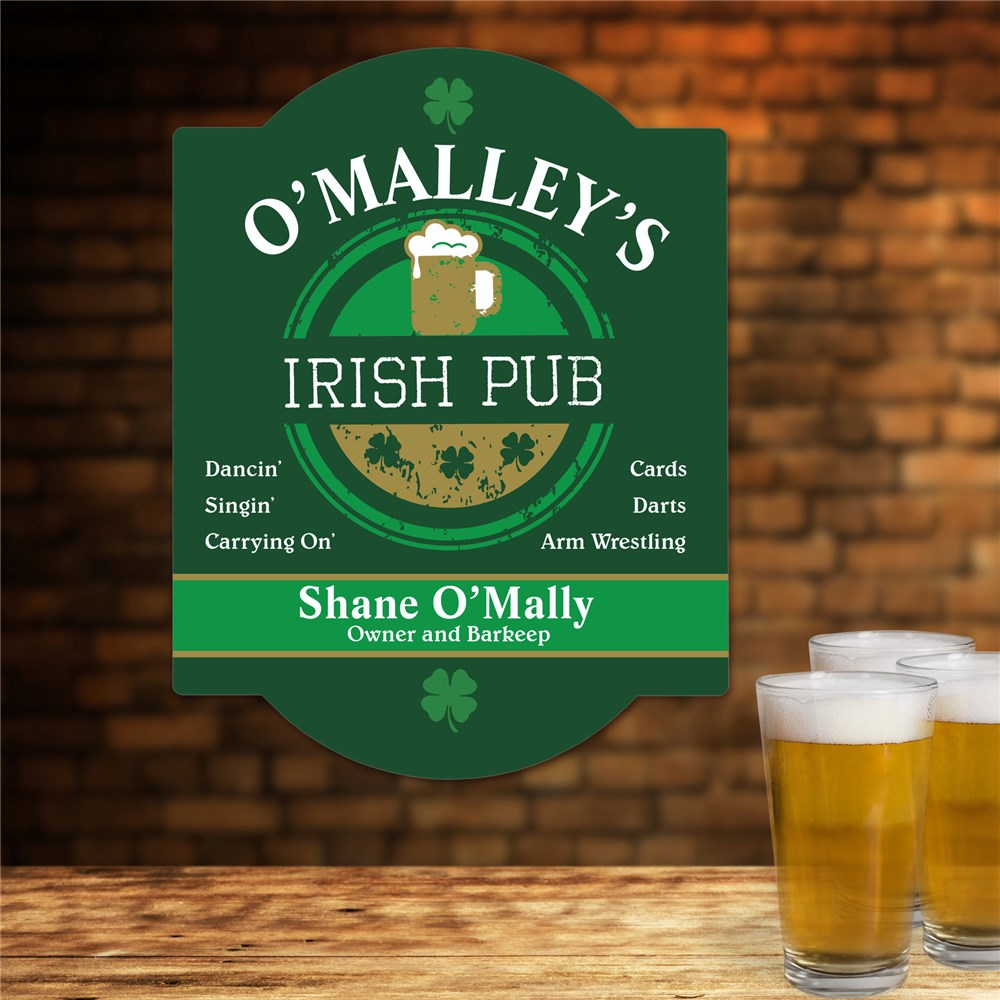 Personalized Bar Sign | Irish Pub Gifts