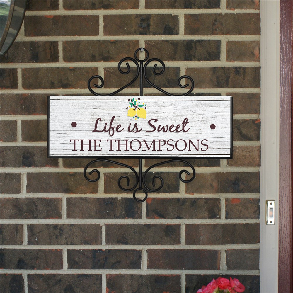 Lemon Home Decor | Personalized Life Is Sweet Sign