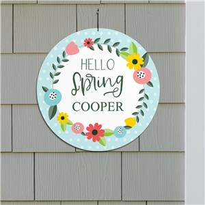 Personalized Spring Sign | Hello Spring Wall Sign