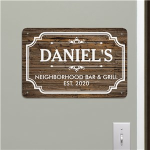 Bar Wall Art | Personalized Home Bar Sign