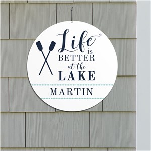 Life Is Better At The Lake Sign | Personalized Decor For Lake House