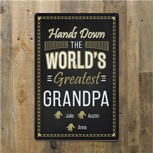 Customized Grandpa Wall Art | Gifts For Worlds Greatest Grandpa