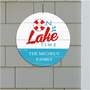 Personalized Lake Decor | On Lake Time Sign