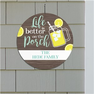 Personalized Home Decor Sign | Porch Life Sign