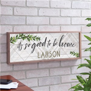 Botanical Home Decor | Plants And Plaid Sign