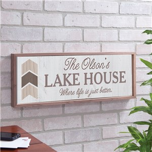 Life Is Better Sign | Personalized Vacation Home Decor