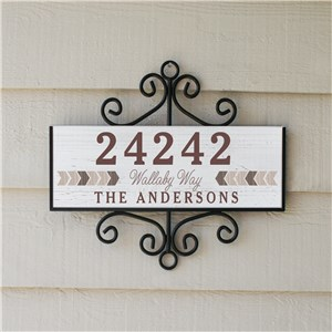 Personalized Signature Signs | Coordinated Address Signs