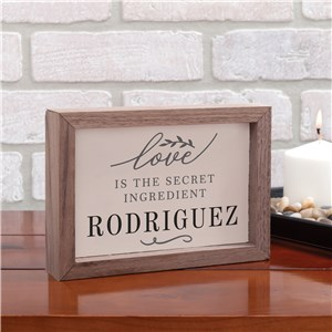 Personalized Table Top Sign | Kitchen Love Personalized Sign