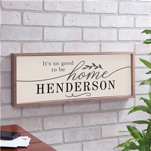 Wall Decor For Home | Wood Framed Sign With Name