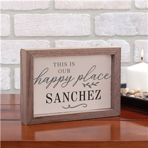 Personalized Table Top Sign | Our Happy Place Sign