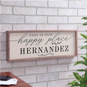 Wall Decor For Homes | Personalized Happy Place Framed Sign