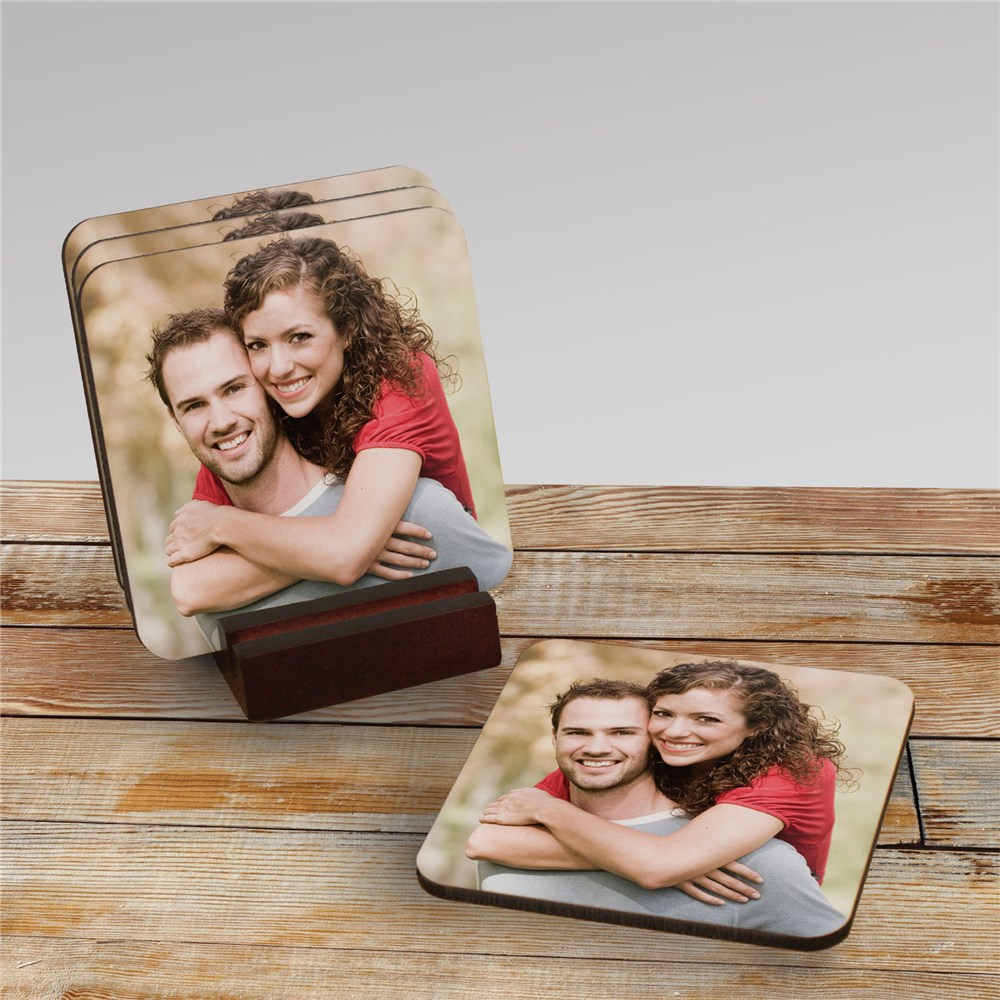 Picture Perfect Personalized Photo Coaster Set | Personalized Photo Gifts