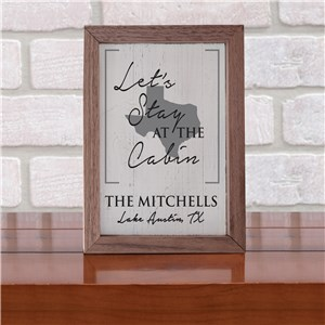 Personalized Framed Table Top Sign | Let's Stay Personalized Sign