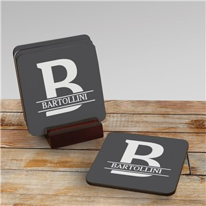 Personalized Coaster Set | Coaster Set With Initial