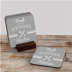 Personalized Coaster Set | Unique Housewarming Gifts