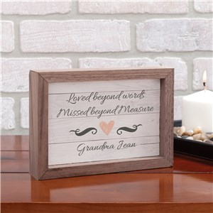 Personalized Table Top Sign | Memorial Keepsake Art