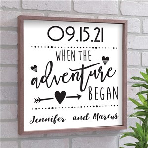Personalized Anniversary Wall Decor | Adventure Wedding Date Gift