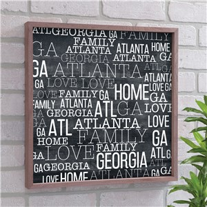 State Pride Word-Art Decor | Chalk Art For Home